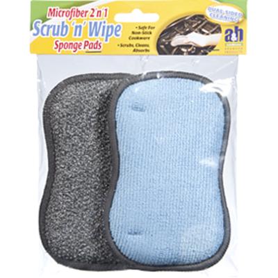 A&H A&H Scrub 'n' Wipe Microfiber 2 'n' 1 Sponge Pads