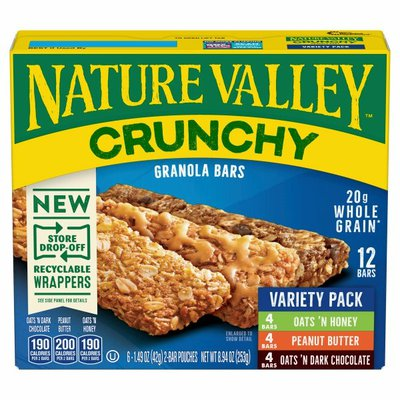 Nature Valley Granola Bars Variety Pack, 12 Count