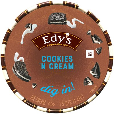 Edy's/Dreyer's Cookies 'N Cream Ice Cream