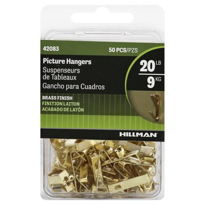 Hillman Group Picture Hangers, Brass Finish