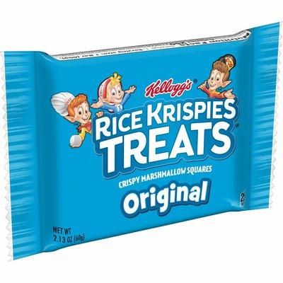 Kellogg's Rice Krispies Treats Marshmallow Snack Bar, Kids Snacks, Holiday Stocking Stuffers, Original