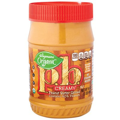 Wegmans Organic p.b. Creamy Peanut Butter Spread