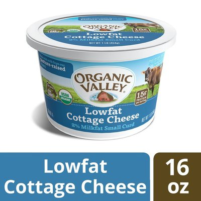 Organic Valley Small Curd Low Fat Organic Cottage Cheese