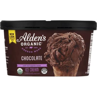 Alden's Organic Ice Cream, Organic, Chocolate