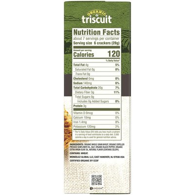 Triscuit Organic Cracked Pepper & Olive Oil Crackers