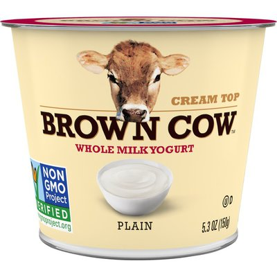 Brown Cow® Cream Top Plain Whole Milk Yogurt