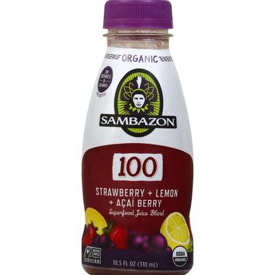 Sambazon Juice Blend, Superfood, Organic, Strawberry + Lemon + Acai Berry
