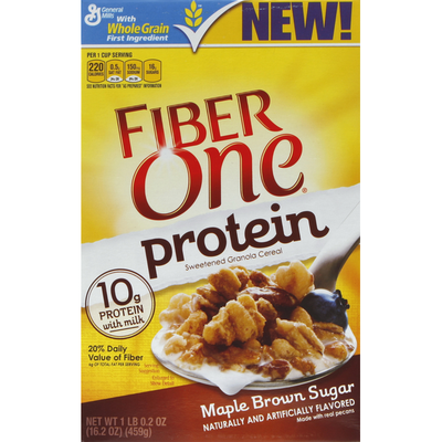 Fiber One Cereal, Protein, Maple Brown Sugar