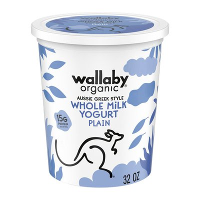 Wallaby Organic Organic Whole Milk Plain Greek Yogurt