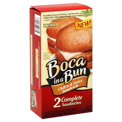 Boca Chik'n & Swiss Sandwich