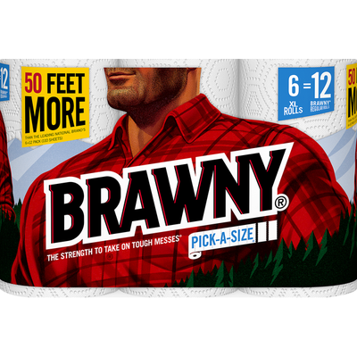 Brawny Paper Towel, Pack-A-Size, XL Rolls