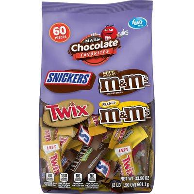 Mars Candy, Chocolates Favorites, Fun Size