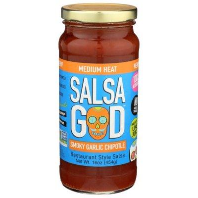 Salsa God Salsa, Smoky Garlic Chipotle, Medium Heat, Restaurant Style
