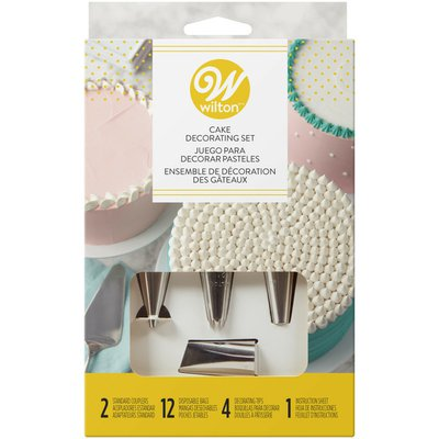 Wilton Cake Decorating Set with Piping Tips, Decorating Bags, Couplers and Instructions, 18-Piece