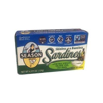 Season Brand Skinless 7 & Boneless Sardines In Extra Virgin Olive Oil