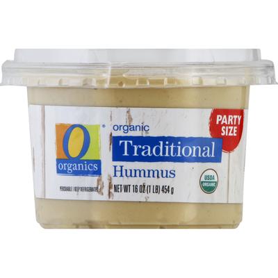 O Organics Hummus, Organic, Traditional, Party Size