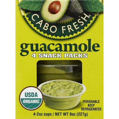 Cabo Fresh Guacamole, 4 Snack Packs