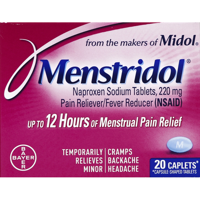 Menstridol Pain Reliever/Fever Reducer, 220 mg, Caplets
