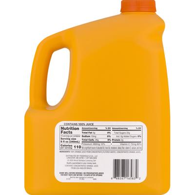 SB 100% Juice, Orange, No Pulp
