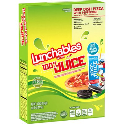 Lunchables Deep Dish Pepperoni Pizza Convenience Meal