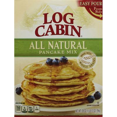 Log Cabin Pancake Mix, All Natural