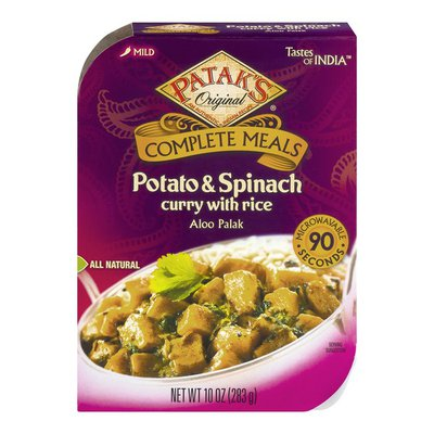 Patak's Original Complete Meals Potato & Spinach Curry with Rice