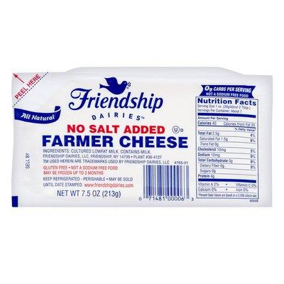 Friendship Cheese, Farmer, No Salt Added