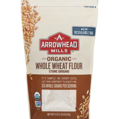 Arrowhead Mills Wheat Flour, Organic, Whole, Stone Ground