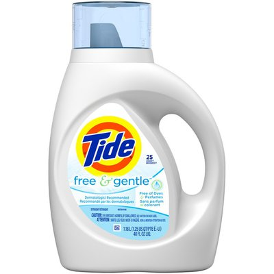 Tide Free & Gentle HE Turbo Clean Liquid Laundry Detergent
