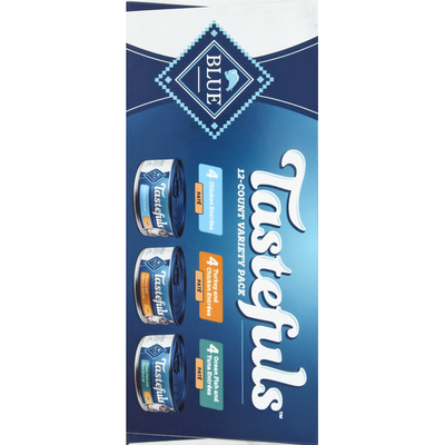 Blue Cat Food, Chicken Entrees, Turkey and Chicken Entrees, Ocean Fish Tuna Entrees, Variety Pack