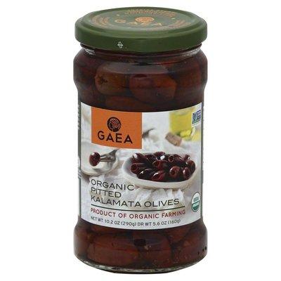 GAEA Olives, Organic, Kalamata, Pitted