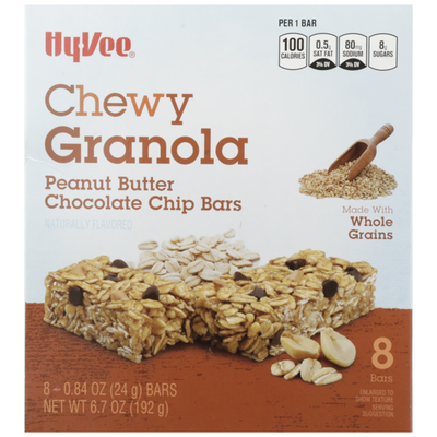 Hy-Vee Peanut Butter Chocolate Chip Chewy Granola Bars