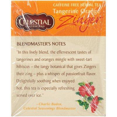 Celestial Seasonings Zinger Tangerine Orange Caffeine Free Herbal Tea