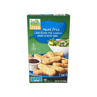 Earth Grown Meat Free Breaded Soy Protein Chickenless Tenders