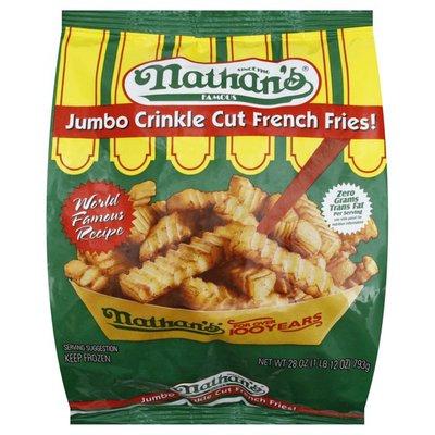 Nathan's French Fries, Crinkle Cut, Jumbo