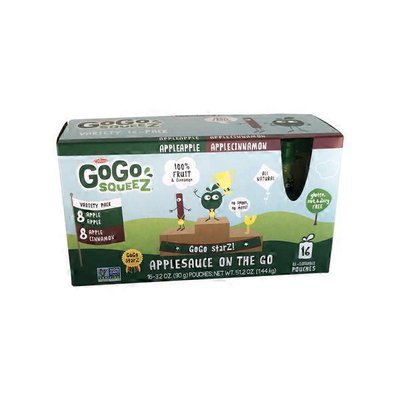 GoGo Squeez Applesauce On The Go Apple & Apple Cinnamon Pouches