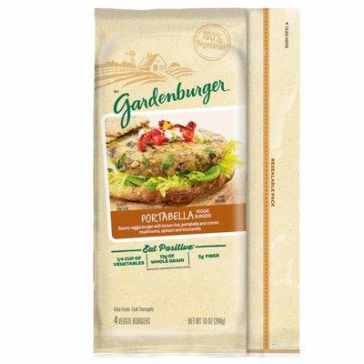 Gardenburger Veggie Burgers, Portabella, 13 Grams of Whole Grain