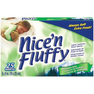 Nice 'N Fluffy Dryer Sheets Mountain Rain Fabric Softener