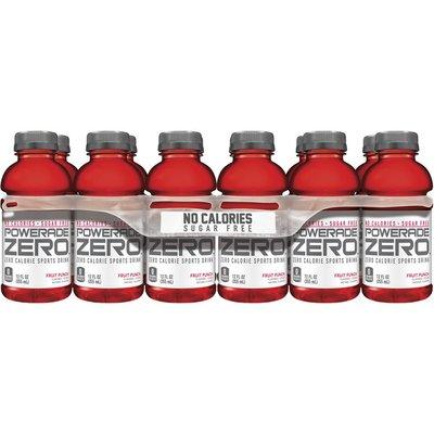 POWERADE Zero Calorie Electrolyte Enhanced Sports Drinks, Fruit Punch
