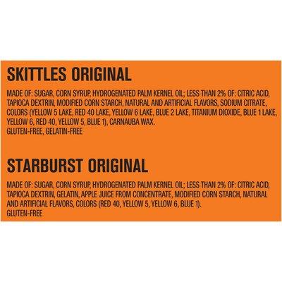 Skittles & Starburst Original Candy Fun Size Pieces