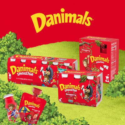 Danimals Strawberry Explosion Squeezable Yogurt