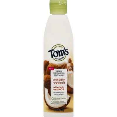Tom's of Maine Body Wash, Natural Moisturizing, Creamy Coconut