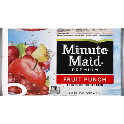 Minute Maid Fruit Punch Can