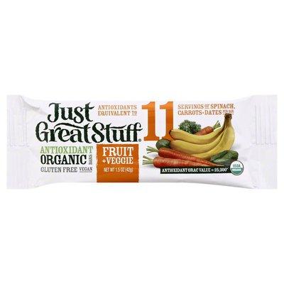 Just Great Stuff Antioxidant Bar, Organic, Fruit & Veggie,