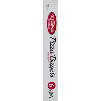 Macabee Pizza Bagels Mozzarella Cheese - 6 CT