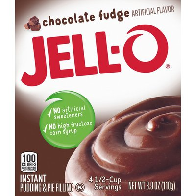 Jell-O Chocolate Fudge Instant Pudding & Pie Filling Mix