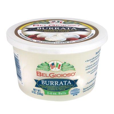 BelGioioso Fresh Mozzarella Cheese Burrata, Cup 2-4oz Balls