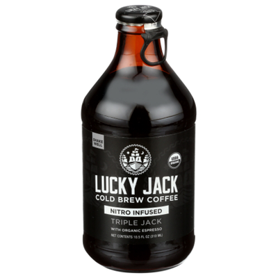 Lucky Jack Coffee, Nitro Cold Brew, Double Black