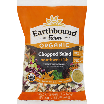 Earthbound Farms Salad, Chopped, Southwest Kit