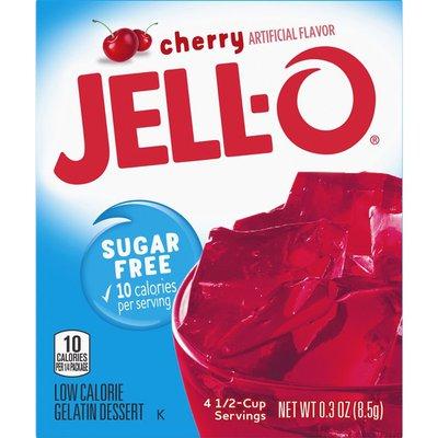 Jell-O Cherry Sugar Free Gelatin Dessert Mix